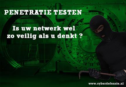 Cybersecurity penetratie testen Cyber Defensie